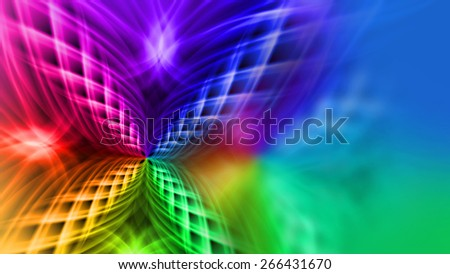 Nice multicolored pattern background iridescent color streams - stock photo