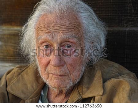 Nice outdoor Portrait of a senior Man - stock photo