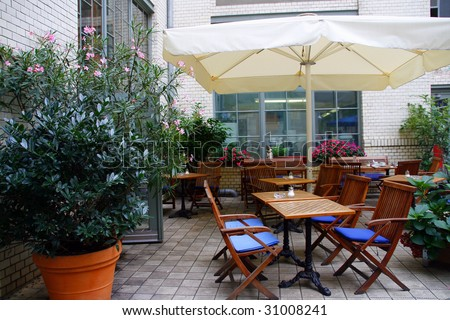 Nice outdoor restaurant in Berlin (Germany)