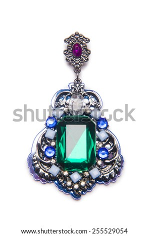 Nice pendant isolated on white - stock photo