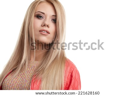 Nice portrait of a blonde girl