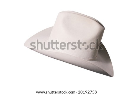 Nice quality cowboy hat, rated triplex beaver felt - stock photo