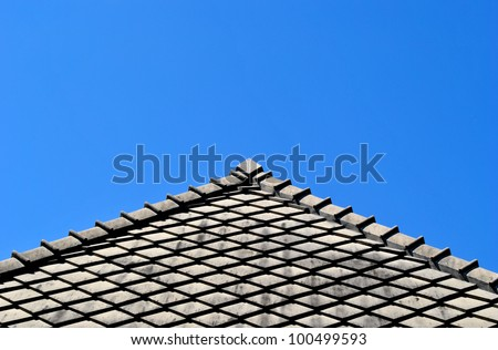 nice roof with blue sky