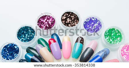 nice set for a good manicure - stock photo