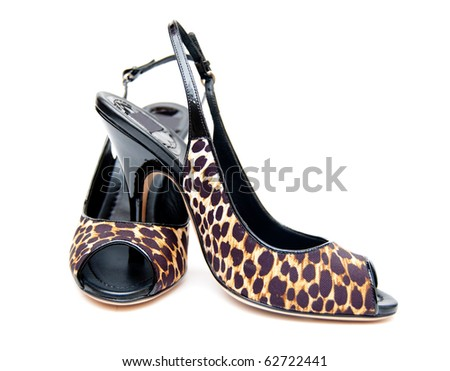 nice shoes isolated on white background - stock photo