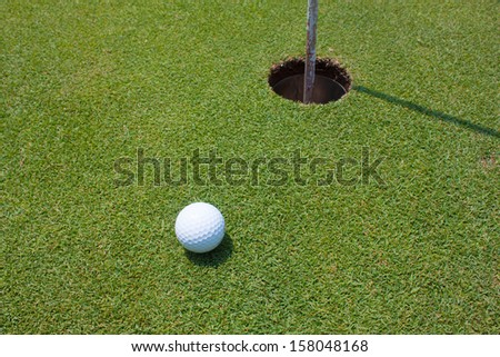 nice shot for putt