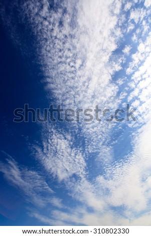 nice sky - stock photo