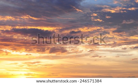 Nice sky and could ,Sunrise, Sunset - stock photo