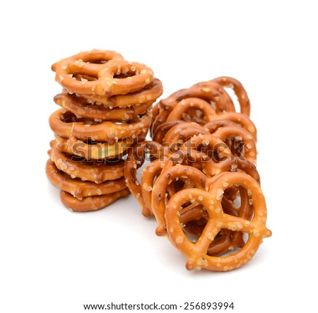 nice snacks on white background  - stock photo