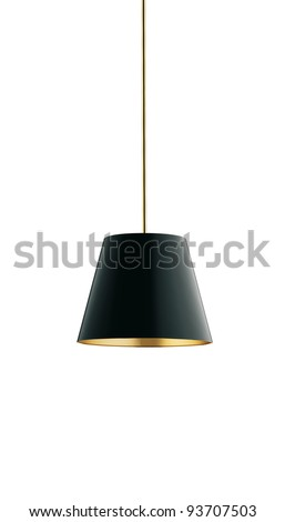 nice tall floor lamp isolated on white - stock photo