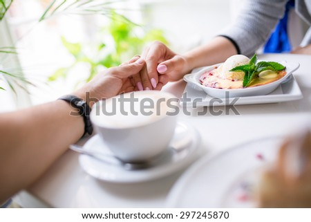 Nice time spent together in a restaurant - stock photo