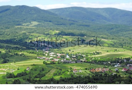 Nice view of the village from the top of the mountain
