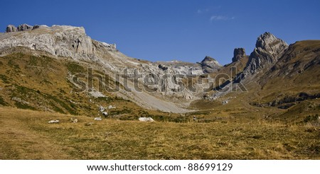 Nice views in the pyrenees - stock photo