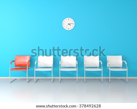 Nice waiting room - stock photo