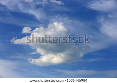Nice white clouds in blue sky