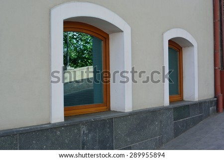 nice window with tinted glasses - stock photo