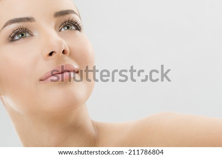 Nice woman face - stock photo