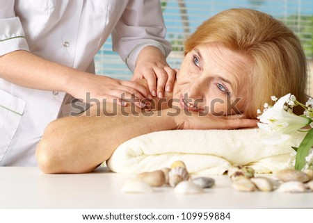 Nice  woman went to a resort vacation - stock photo