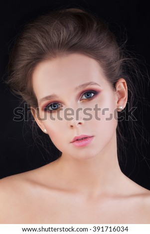Nice Woman with Healthy Skin and Hair - stock photo