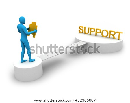 Nicely created idea to show willing for support. 3d illustration