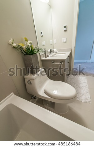 Family toilet stock photos royalty free images - Nicely decorated bathrooms ...