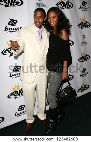 Nick Cannon and Joy Bryant at the birthday party for Nick Cannon and the opening of his flagship store for PNB Nation on October 10, 2006 at PNB Nation Store, Los Angeles, CA.