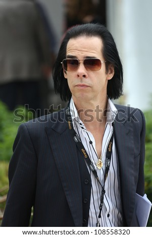 Nick Cave arriving for the 'Lawless' Photocall at the 65th Annual Cannes Film Festival, Cannes, France. 20/05/2012 Picture by: Henry Harris / Featureflash - stock photo