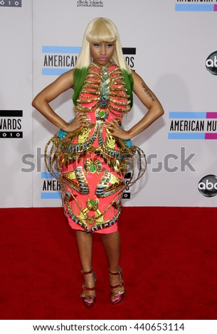 Nicki Minaj at the 2010 American Music Awards held at the Nokia Theatre L.A. Live in Los Angeles, USA on November 21, 2010. - stock photo