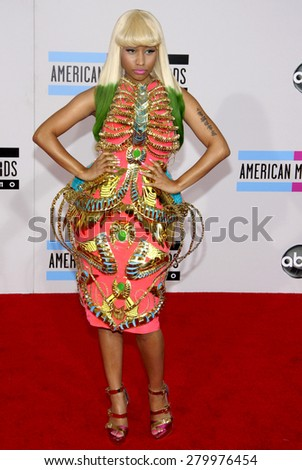 Nicki Minaj at the 2010 American Music Awards held at the Nokia Theatre L.A. Live in Los Angeles on November 21, 2010.  - stock photo