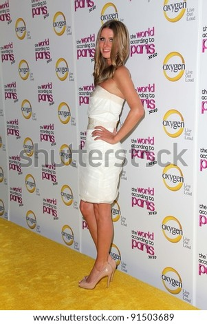 """Nicky Hilton at """"The World According to Paris"""" Premiere Party, Roosevelt Hotel, Hollywood, CA 05-17-11 - stock photo"""