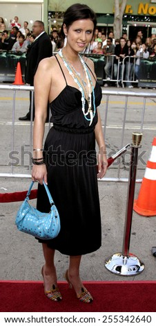 """Nicky Hilton attends the Los Angeles Premiere of """"House of Wax"""" held at the Mann Village Theatre in Westwood, California, United States on April 26, 2005. - stock photo"""