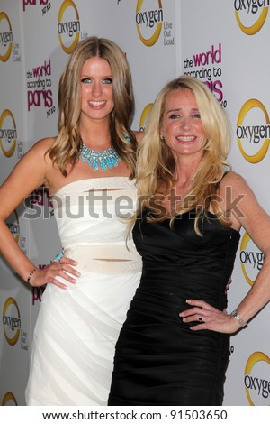 """Nicky Hilton, Kim Richards at """"The World According to Paris"""" Premiere Party, Roosevelt Hotel, Hollywood, CA 05-17-11 - stock photo"""