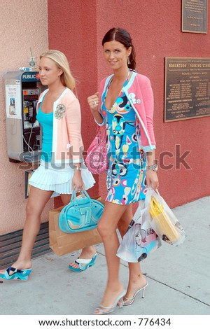 Nicky Hilton showed off her line of purse at the style party at Lola's in Beverly hills, Los Angeles, Ca, 04/20/04 - stock photo