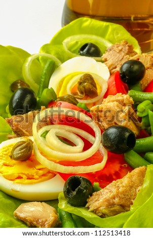 Nicoise salad - stock photo