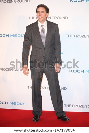 Nicolas Cage arriving at The Frozen Ground UK Premiere, at Vue West End, London. 17/07/2013 - stock photo