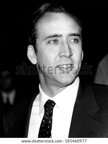 Nicolas Cage at the New York premiere of BRINGING OUT THE DEAD, 10/19/99
