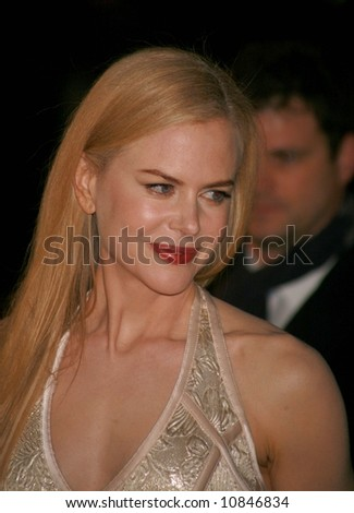 """Nicole Kidman arrives at the world premiere of """"The Golden Compass"""" at the Odeon Leicester Square on November 27, 2007 in London, England - stock photo"""