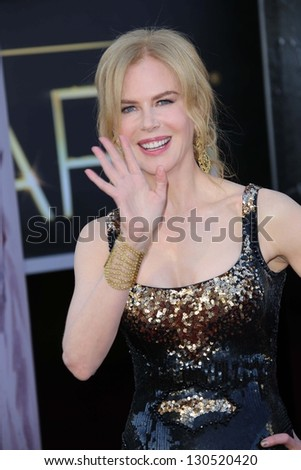 Nicole Kidman at the 85th Annual Academy Awards Arrivals, Dolby Theater, Hollywood, CA 02-24-13 - stock photo