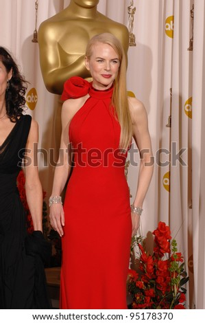 Nicole Kidman at the 79th Annual Academy Awards at the Kodak Theatre, Hollywood. February 26, 2007  Los Angeles, CA Picture: Paul Smith / Featureflash - stock photo