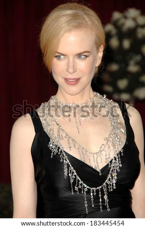 Nicole Kidman, in a L'Wren Scott necklace, at Part 2-RED CARPET-80th Annual Academy Awards Oscars Ceremony, The Kodak Theatre, Los Angeles, February 24, 2008 - stock photo