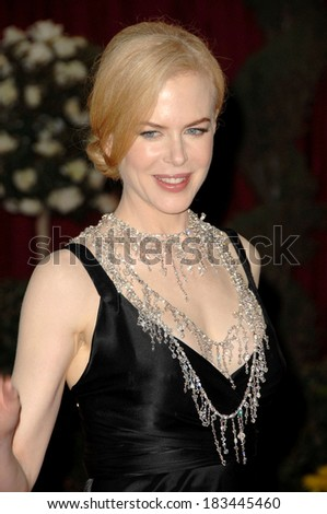 Nicole Kidman, in a L'Wren Scott necklace, at Part 2-RED CARPET-80th Annual Academy Awards Oscars Ceremony, The Kodak Theatre, Los Angeles, February 24, 2008