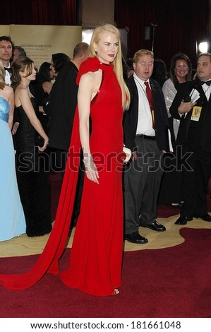 Nicole Kidman, in Balenciaga by Nicolas Ghesquiere, at OSCARS 79th Annual Academy Awards-ARRIVALS - stock photo