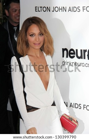 Nicole Richie at the Elton John Aids Foundation 21st Academy Awards Viewing Party, West Hollywood Park, West Hollywood, CA 02-24-13 - stock photo