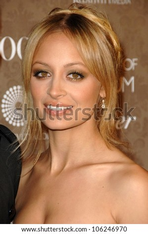 Nicole Richie  at the 2nd Annual Art of Elysium Black Tie Charity Gala 'Heaven'. The Vibiana, Los Angeles, CA. 01-10-09 - stock photo