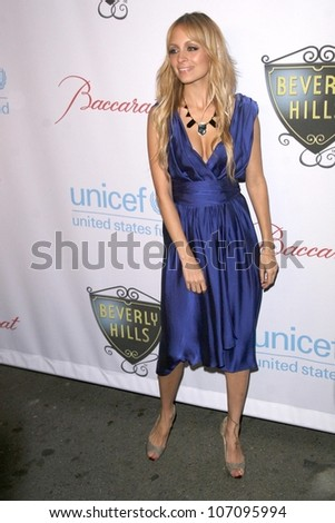 Nicole Richie  at the 2008 UNICEF Snowflake Lighting. Rodeo Drive, Beverly Hills, CA. 11-22-08 - stock photo