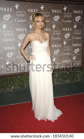 Nicole Richie, wearing a Jasmine di Milo dress, at ART OF ELYSIUM's 2nd Annual HEAVEN Gala, Vibiana, Los Angeles, CA, January 10, 2009  - stock photo
