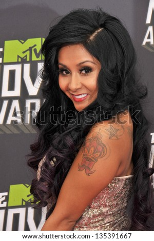 "Nicole ""Snooki"" Polizzi at the 2013 MTV Movie Awards at Sony Studios, Culver City. April 14, 2013  Los Angeles, CA Picture: Paul Smith"