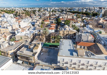 Nicosia City View - The Capital of Cyprus and Northern Part
