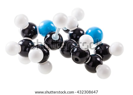 Nicotine chemical molecular structure model isolated over a white background
