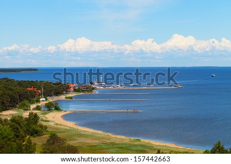 Nida port on Curonian spit, Lithuania.